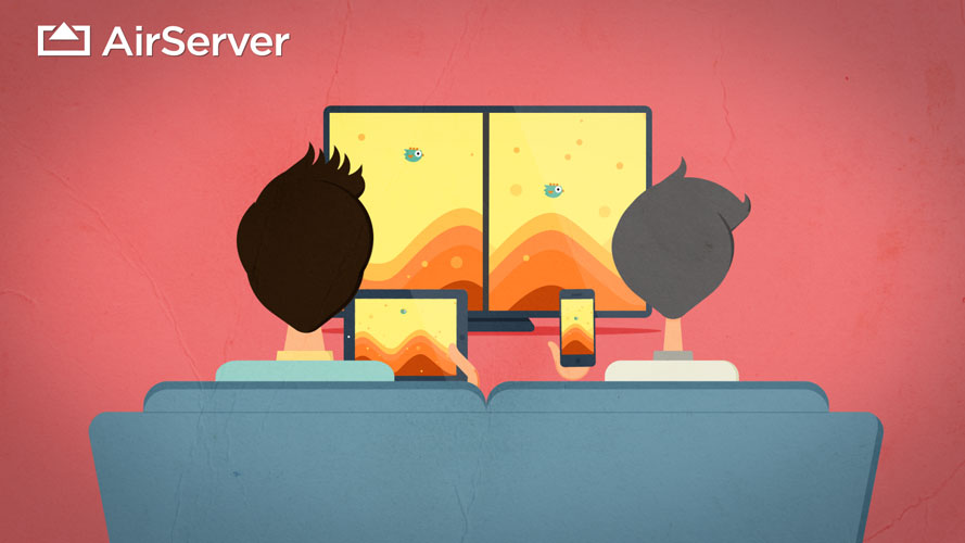 AirServer side-by-side gaming