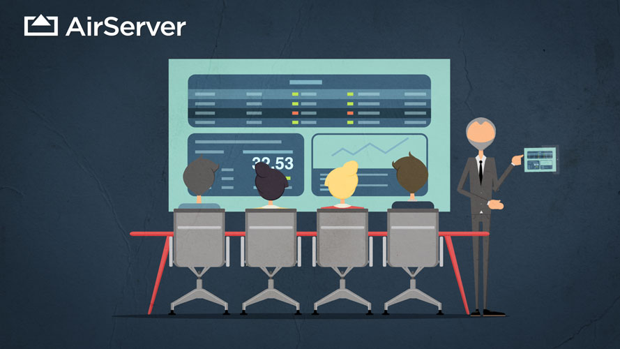 AirServer being used in a business meeting