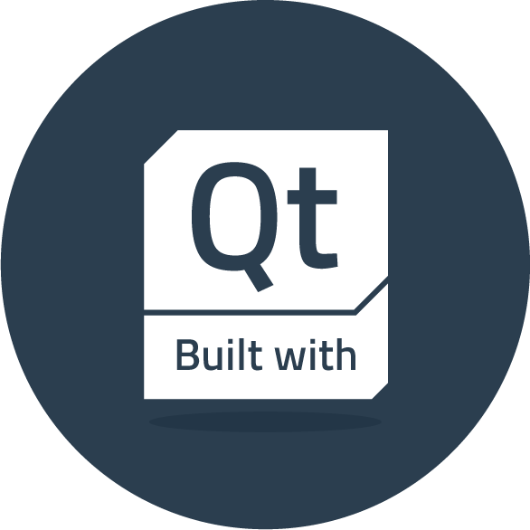 Built with Qt icon